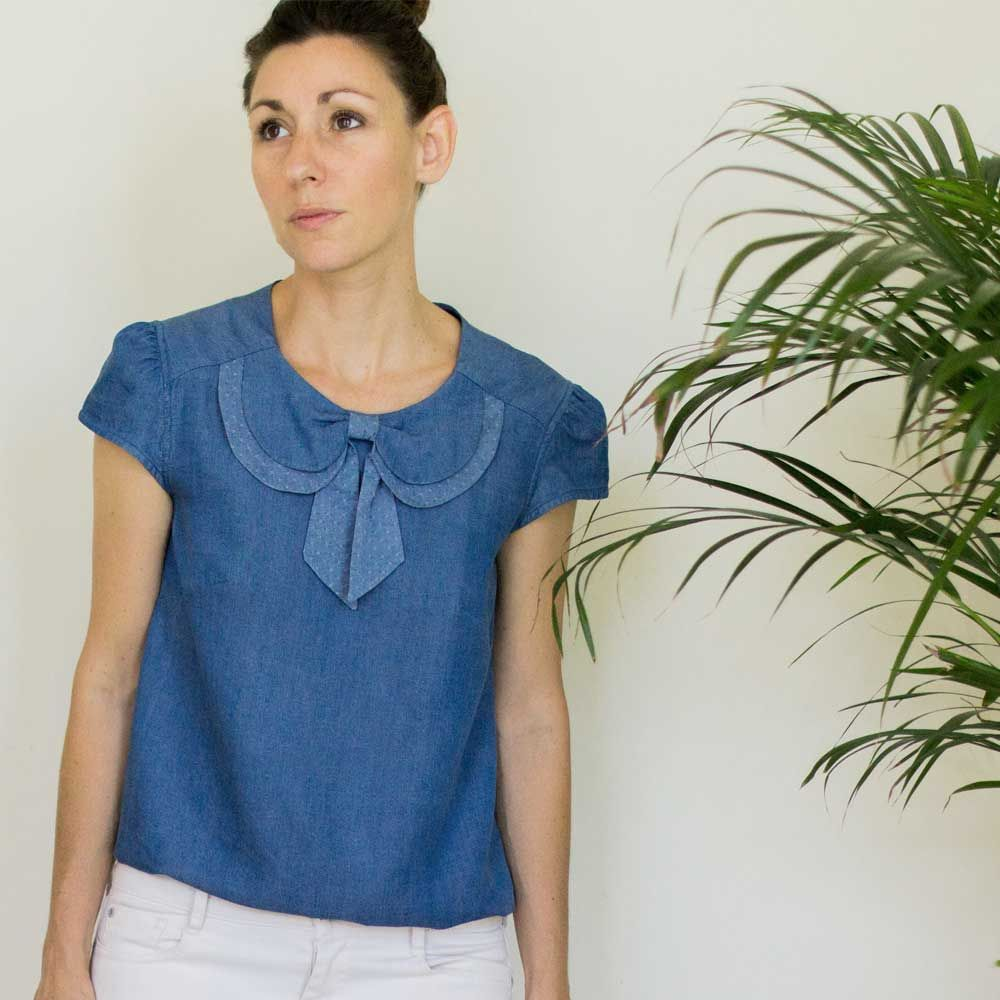 d4997a93abc0e Blouse Léonie – Mimoi | I want to sew these tops | Blouse, Mens tops ...