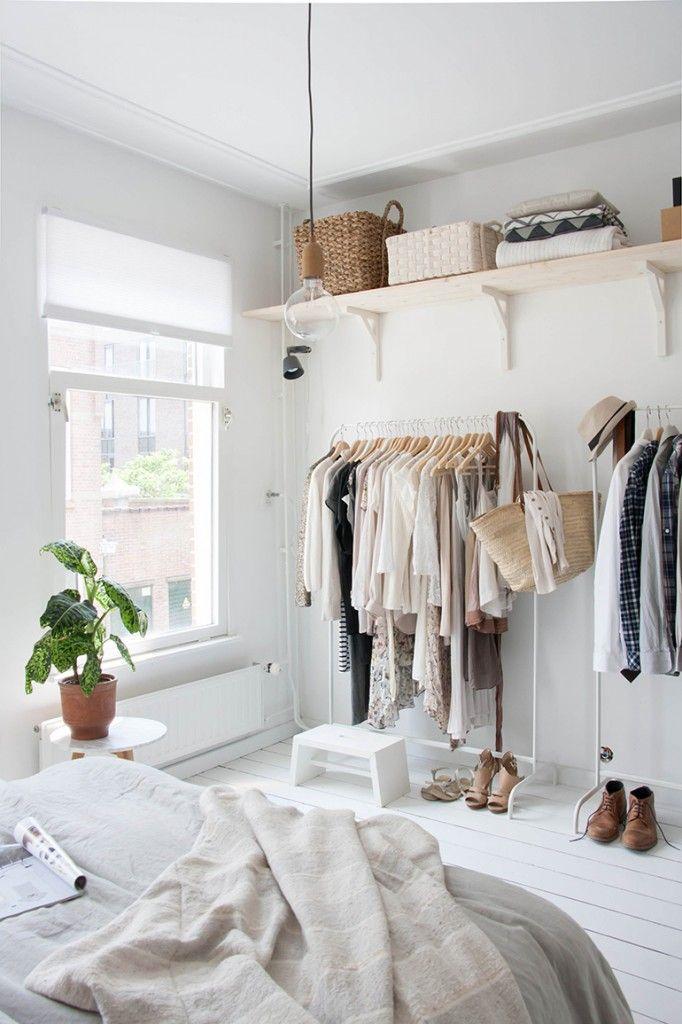 Simple Schauen Sie sich unsere Bildergalerie f r die Kleiderstange statt Kleiderschrank an Dort finden Sie unterschiedliche Varianten f r die Raumgestaltung und
