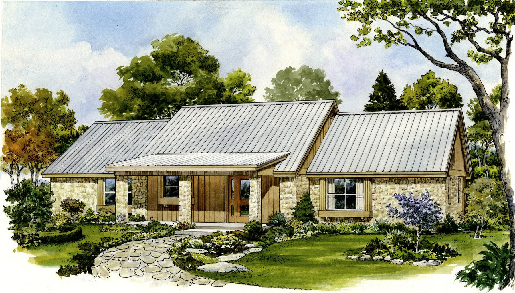Ranch Retreat - 46012HC | Country, Hill Country, Ranch, 1st Floor Master  Suite, CAD Available, PDF | Architectural Designs