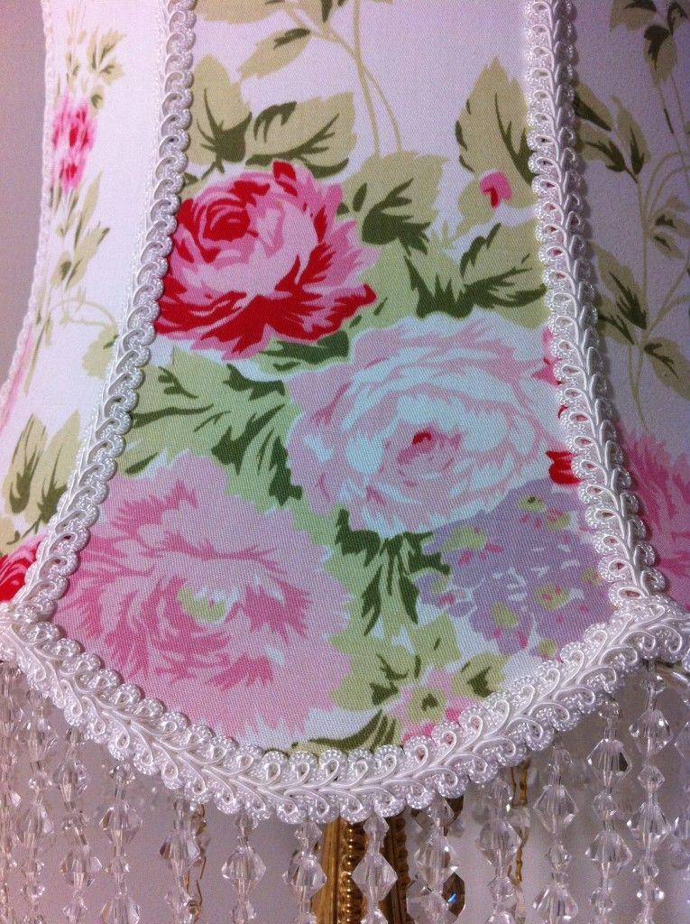 Laura Ashwell Shabby Chic  Wild Flower Fabric Lampshade Shabby Chic Retro ...