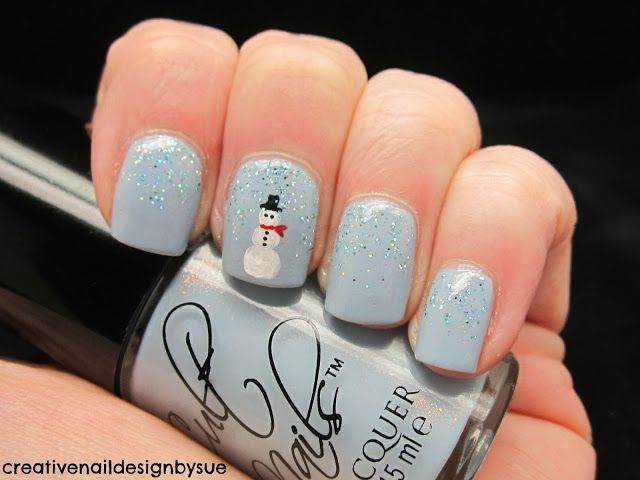 Creative Nail Design By Sue Let It Snow Challenge Snowman