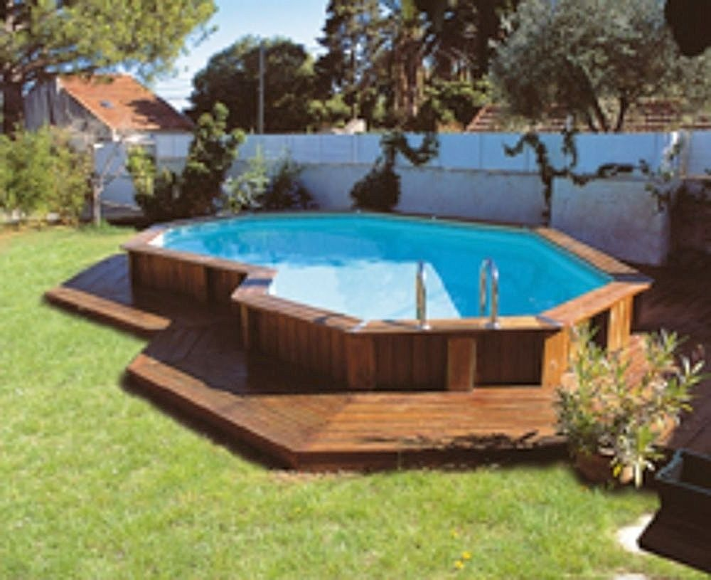 Top above ground pool decking above ground pool decks for Above ground pool decks with hot tub