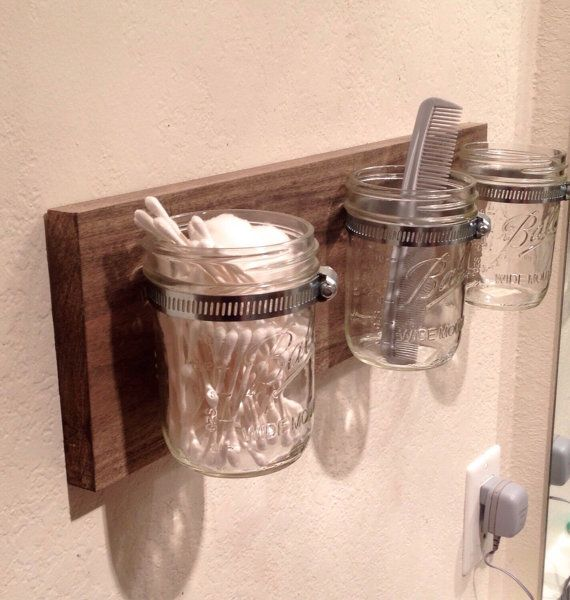 Rustic 3 Mason Jar Holder by NaturallyBuilt on Etsy