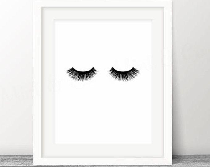 lashes print eyelashes lash art eyelash makeup print make up