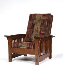 Amish Outlet Store : Morris Slat Chair in Cherry