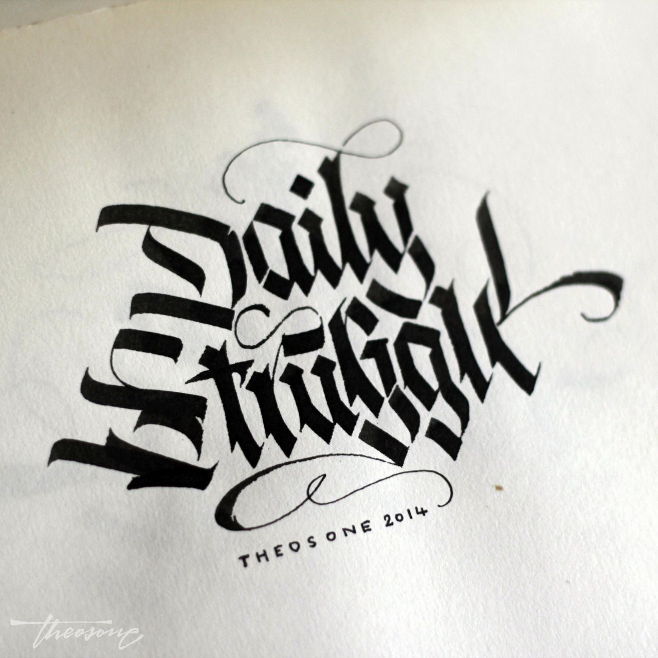 Calligraphi daily struggle parallel pen theosone