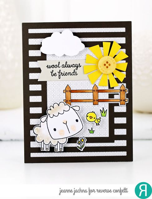 A Kept Life: Countdown to Confetti March Release Day 3 All About Ewe & Easter Blessings #reverseconfetti #sheep #lamb #spring #friendship #card #cardmaking #stamp #stamping #die #background