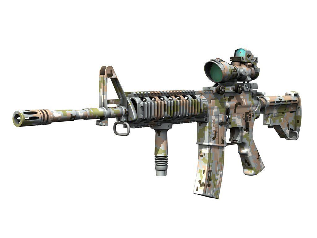 A M4 Carbine With Acog Sight