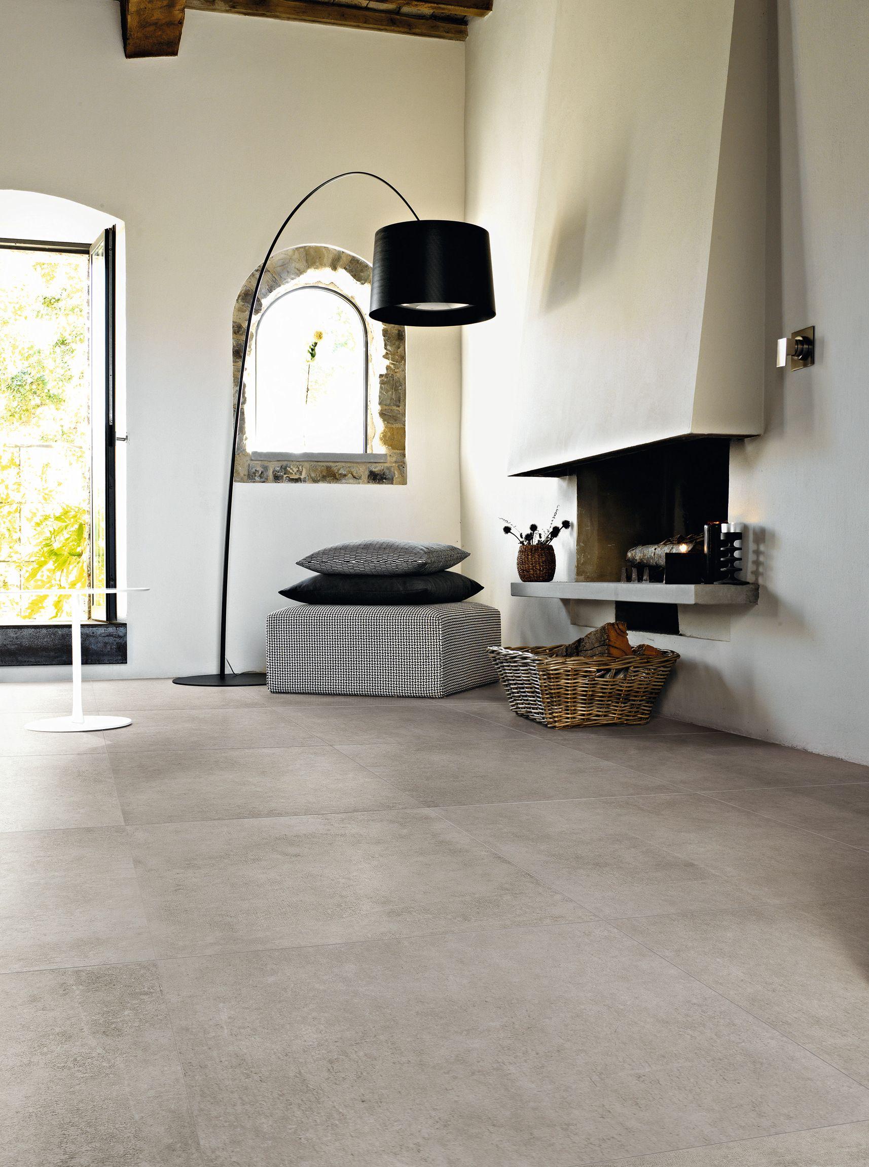 Camini Rivestiti Con Piastrelle pavimento/rivestimento in gres porcellanato effetto cemento