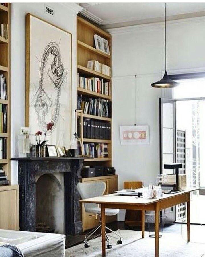 Coin bureau maison salon professionnel ambiance idee deco atelier noir terrasse victorienne images de design dintérieur