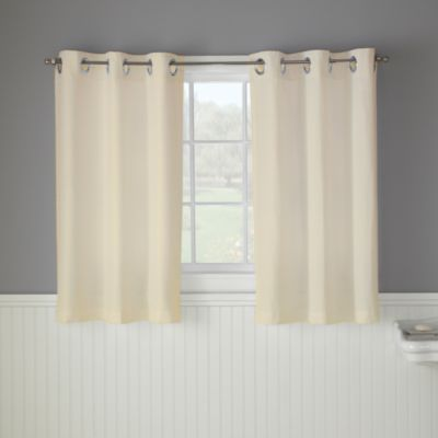 Hookless® Waffle 38 Inch X 45 Inch Window Curtain In Cream    BedBathandBeyond.com