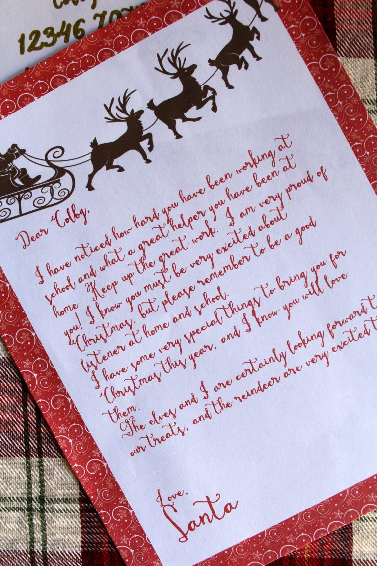 Letter from Santa Free Printable Santa letter printable