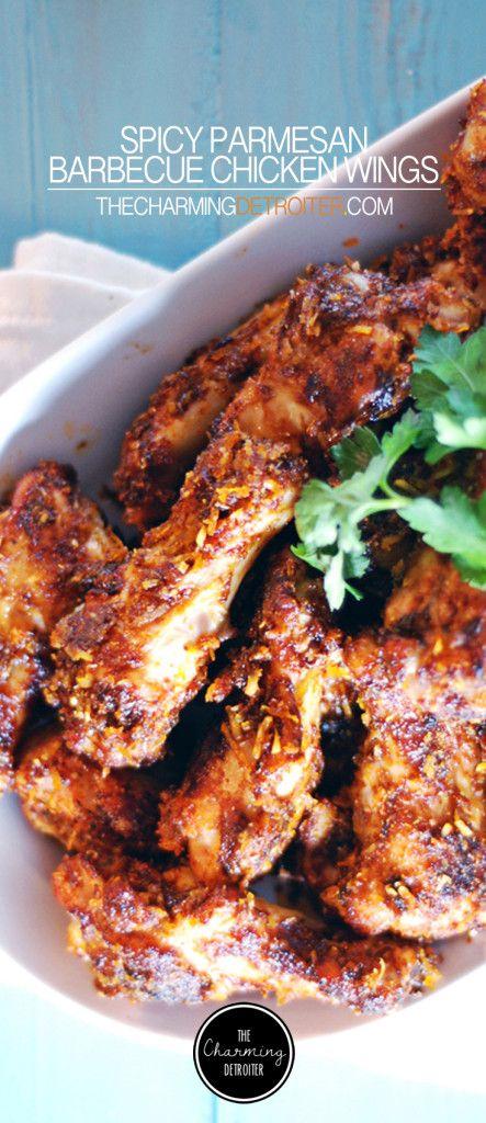 Spicy Parmesan Barbecue Chicken Wings Receita Pratos
