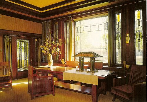 Frank Lloyd Wright's Dana Thomas House. Springfield, Illinois.