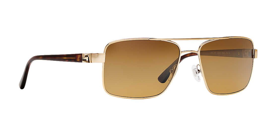 69fb62b30ccb Versace VE2141 58 Brown   Gold Polarized Sunglasses