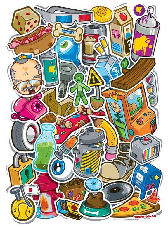 Cool Sticker Design | Stickers | Sticker design, Cool stickers