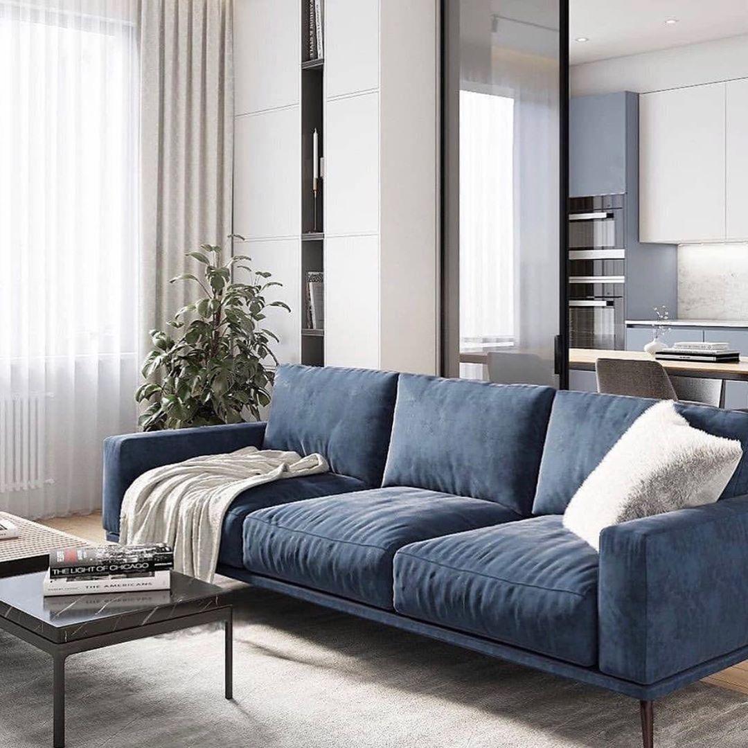 Boconcept New Zealand On Instagram We Re Loving The Comeback Of Blue Serene Yet Sophisticated Our Carton Sofa In Da Dark Blue Sofa Living Room House Design
