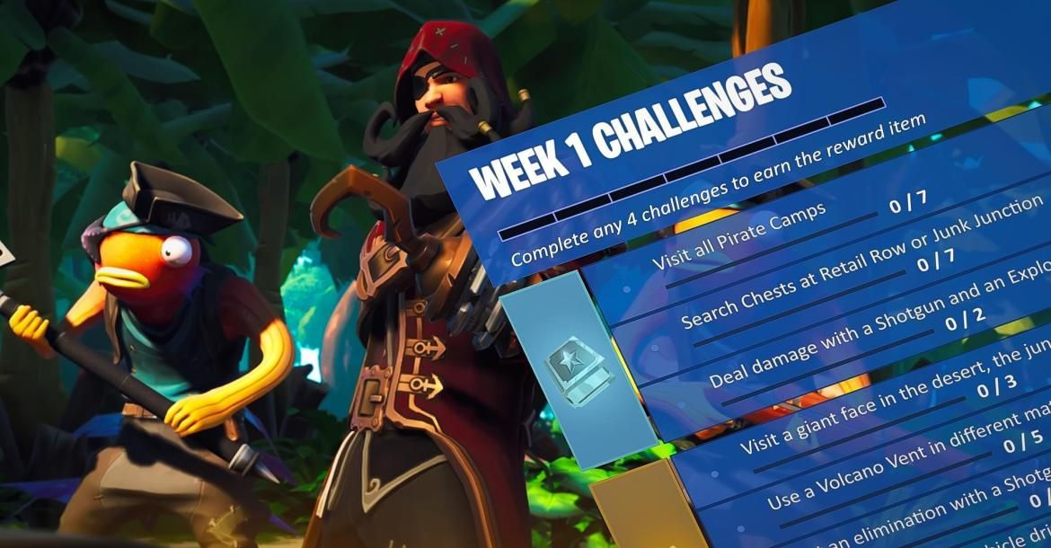 85ca1edfe ... Season 8 Week one challenges are here. Complete them to earn XP and  precious Battle Stars, finish them all and unlock the week 1 loading screen.
