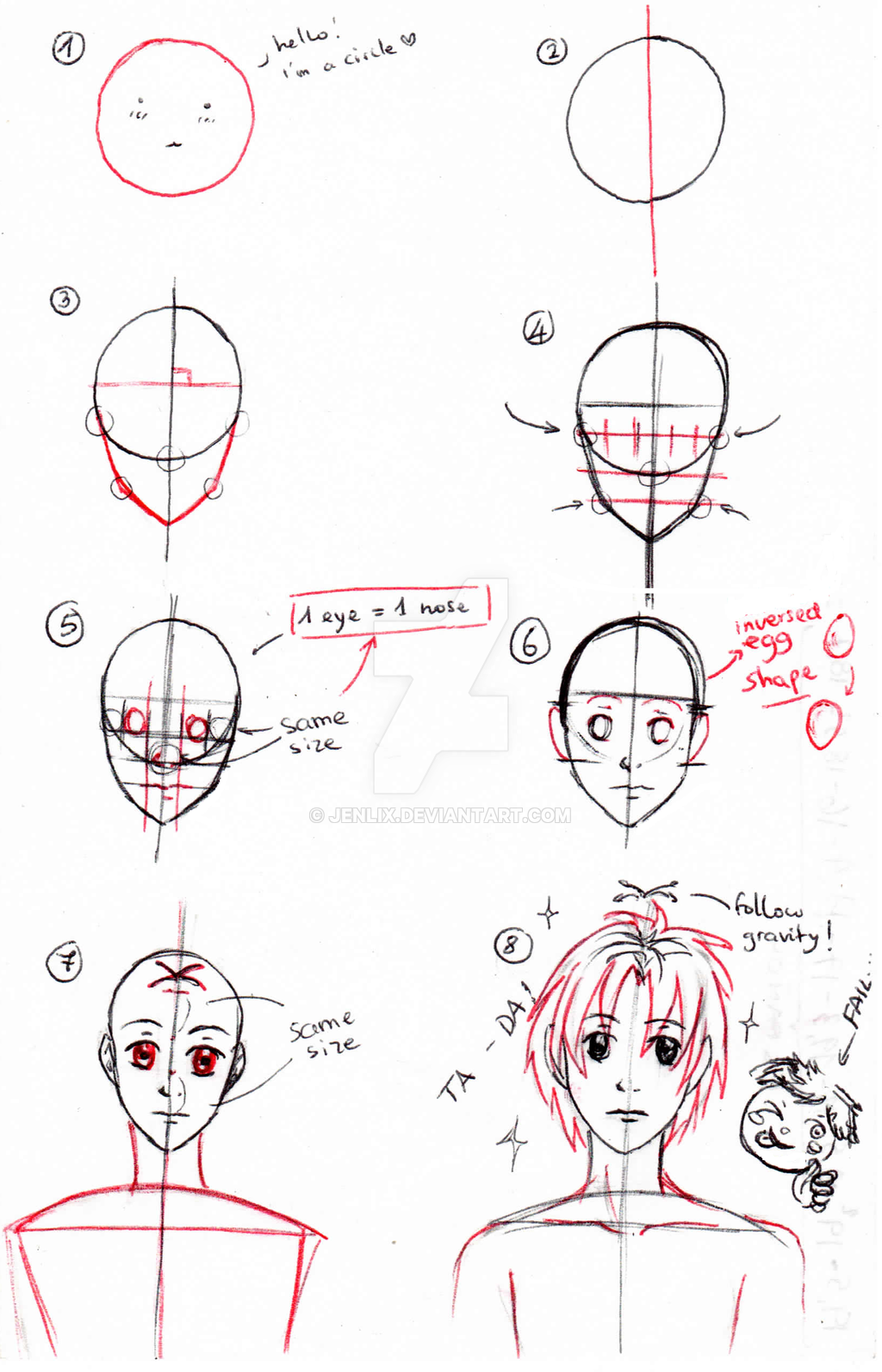 tips on how to draw heads