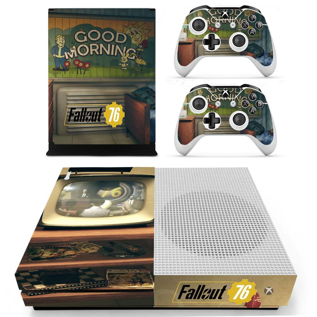 Fallout 76 xbox one S skin decal for console and 2