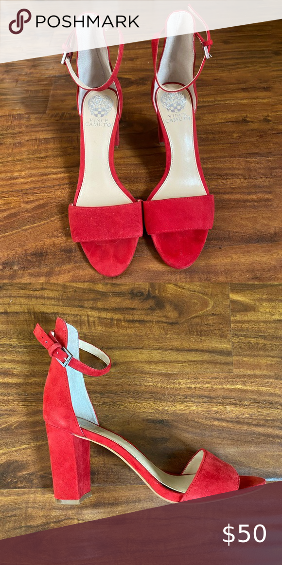Vince Camuto Red Heels Size 7.5 in 2020