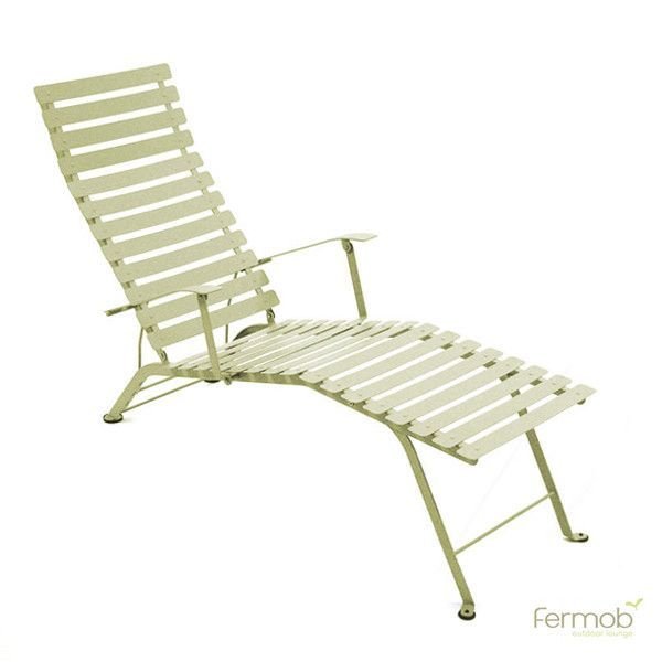 Fermob Bistro Adjustable Chaise Lounge Lounge Chair Outdoor Bistro Furniture Fermob