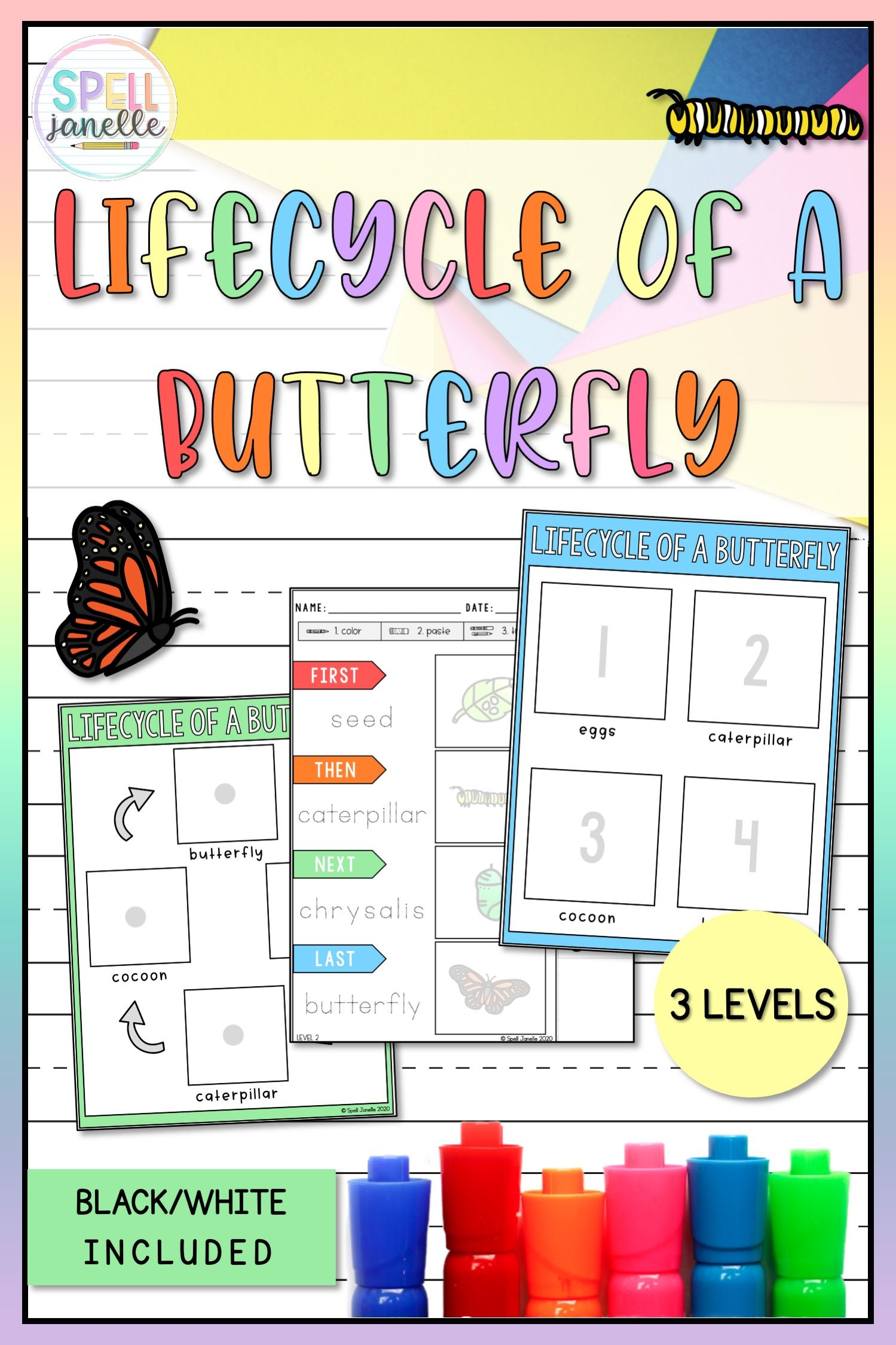 Lifecycle Of A Butterfly Prek For All Special Education In