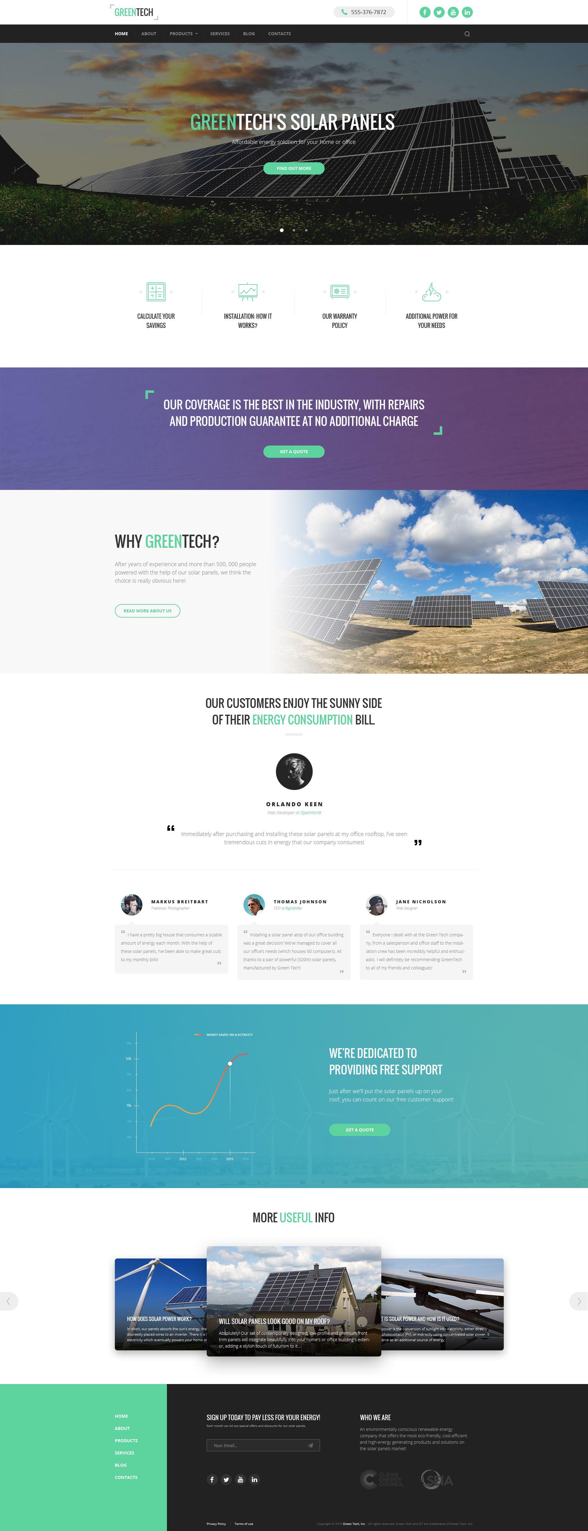 Green Tech Website Template | Pinterest | Template, Website and ...