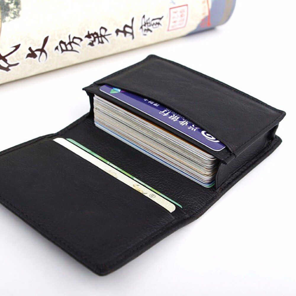 Thinkthendo New Men Black Leather Credit Card Id Business Cards Holder Wallet Case Expanda In 2021 Card Holder Leather Leather Credit Card Holder Genuine Leather Purse