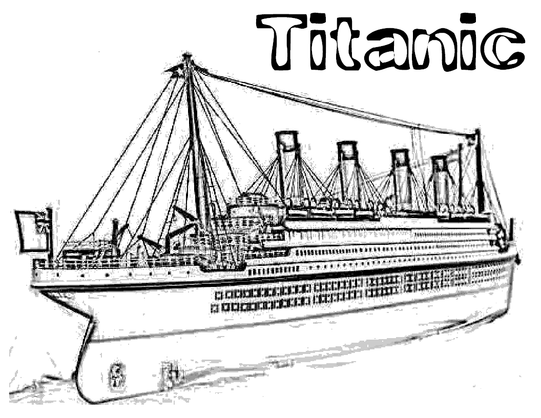 titanic coloring pages | Titanic | Pinterest