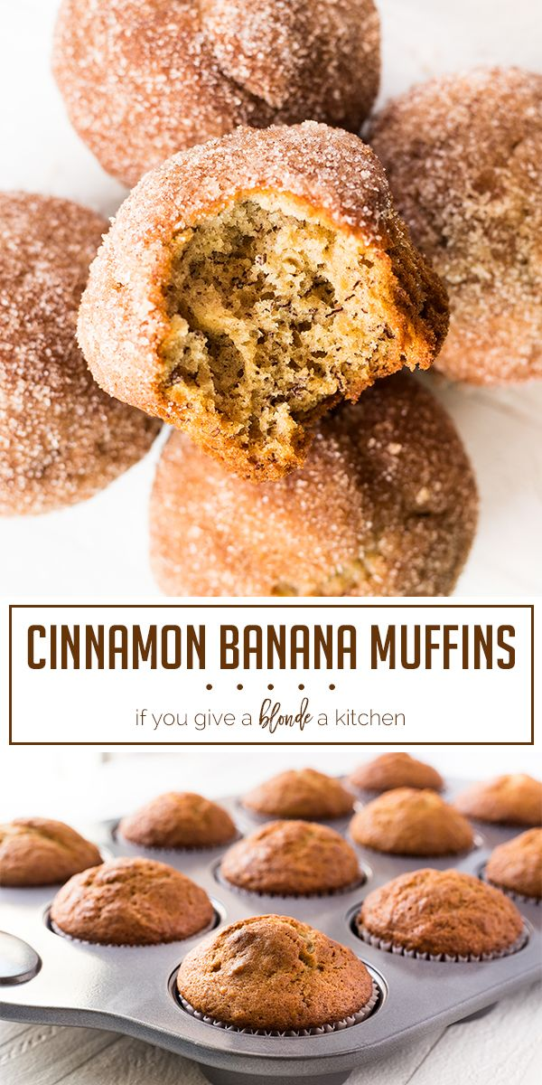 Banana Cinnamon Muffins | If You Give a Blonde a Kitchen