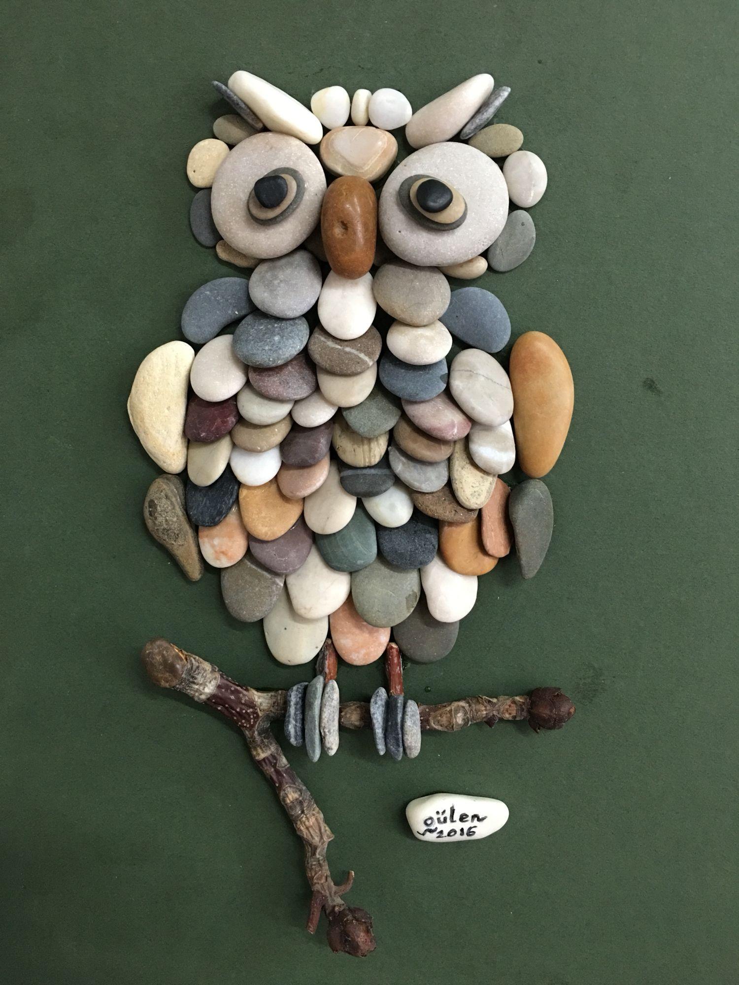 Pebble art owl by gülen More More