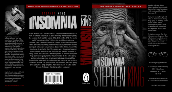 """an analysis of the novel insomnia by stephen king I thought of that experience last week while reading """"doctor sleep,"""" stephen  king's new sequel to """"the shining"""" king's new novel might have."""
