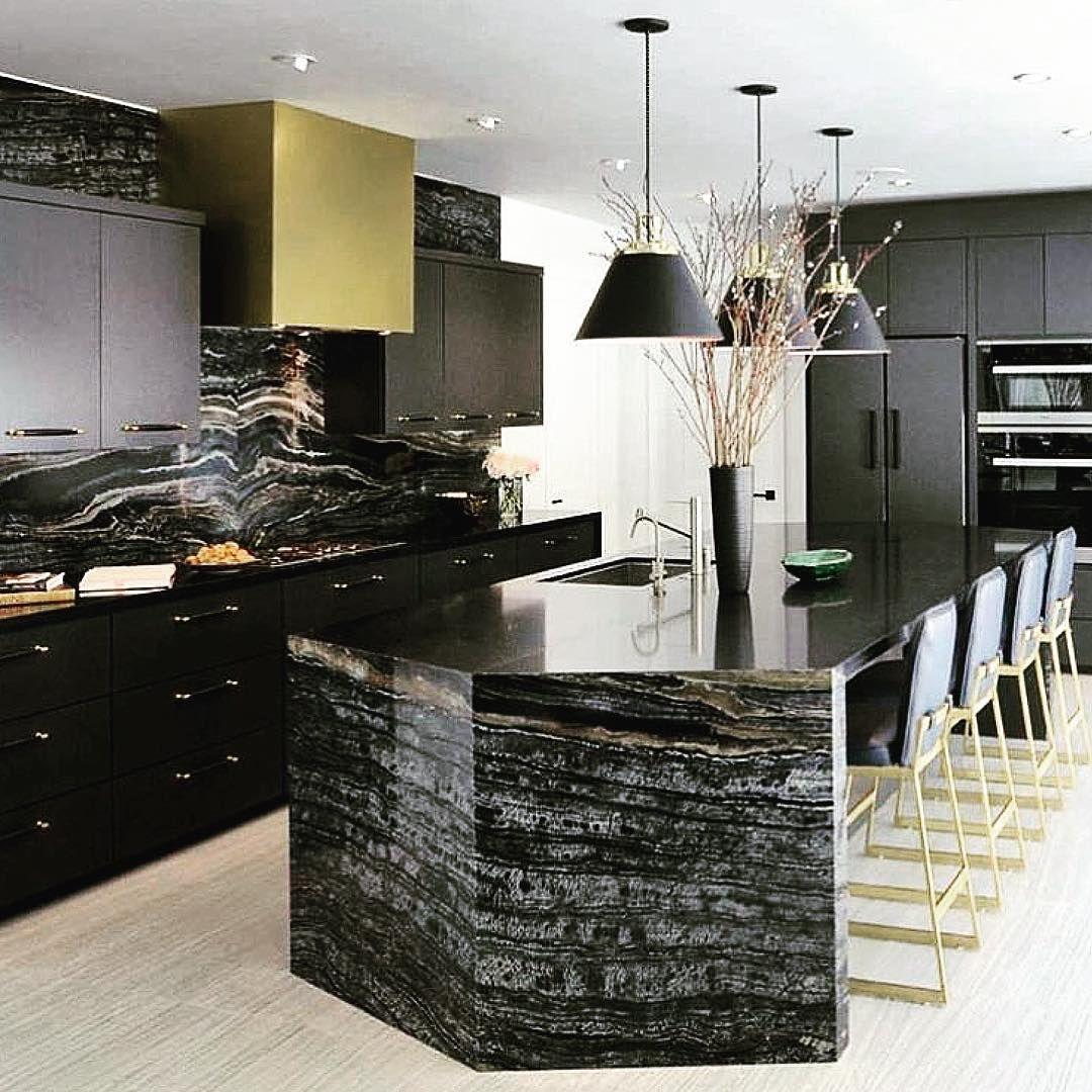 black gold glam image via susanstraussdesign luxury kitchen design home decor kitchen on kitchen interior luxury id=88527
