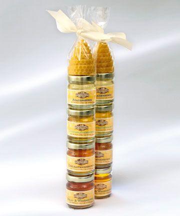 Honigsäule 4x50g + Bienenwachskerze