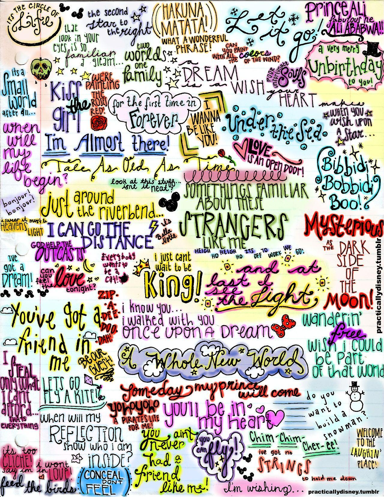 Disney song lyrics   Still a Disney kid at heart   Pinterest ...