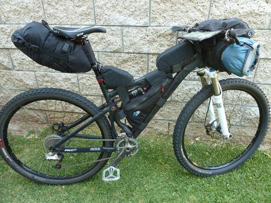 Full Suspension Mtb Rack Mountain Bike Tour Bikepacking
