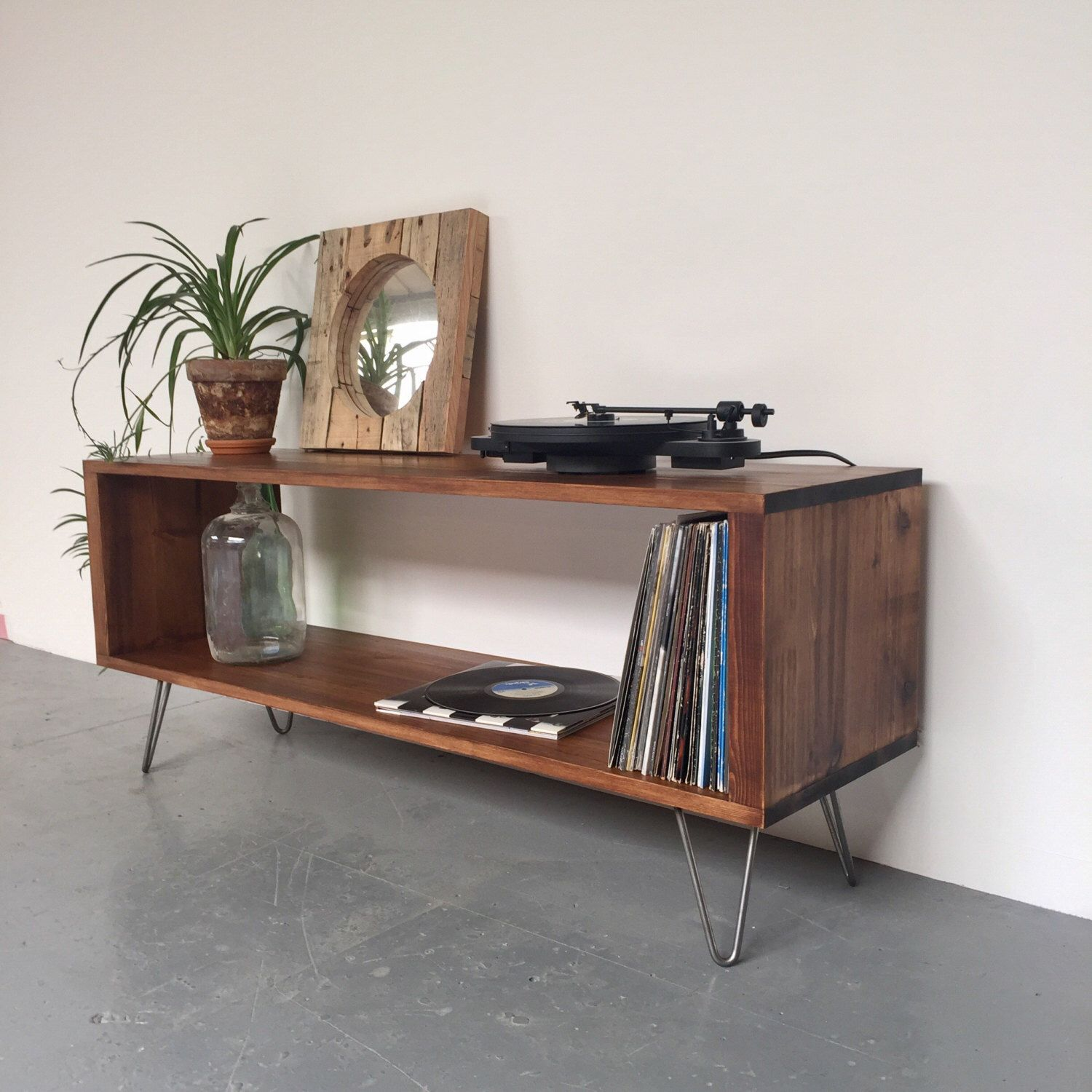 Design Record Player Cabinet stanton record player stand lp vinyl storage cabinet console coffee table on mid