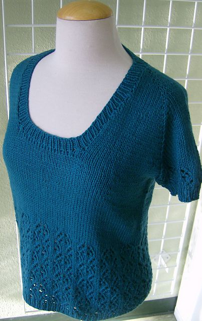 Free Top Down Knit Sweater Pattern Knit Summer Tops Pinterest
