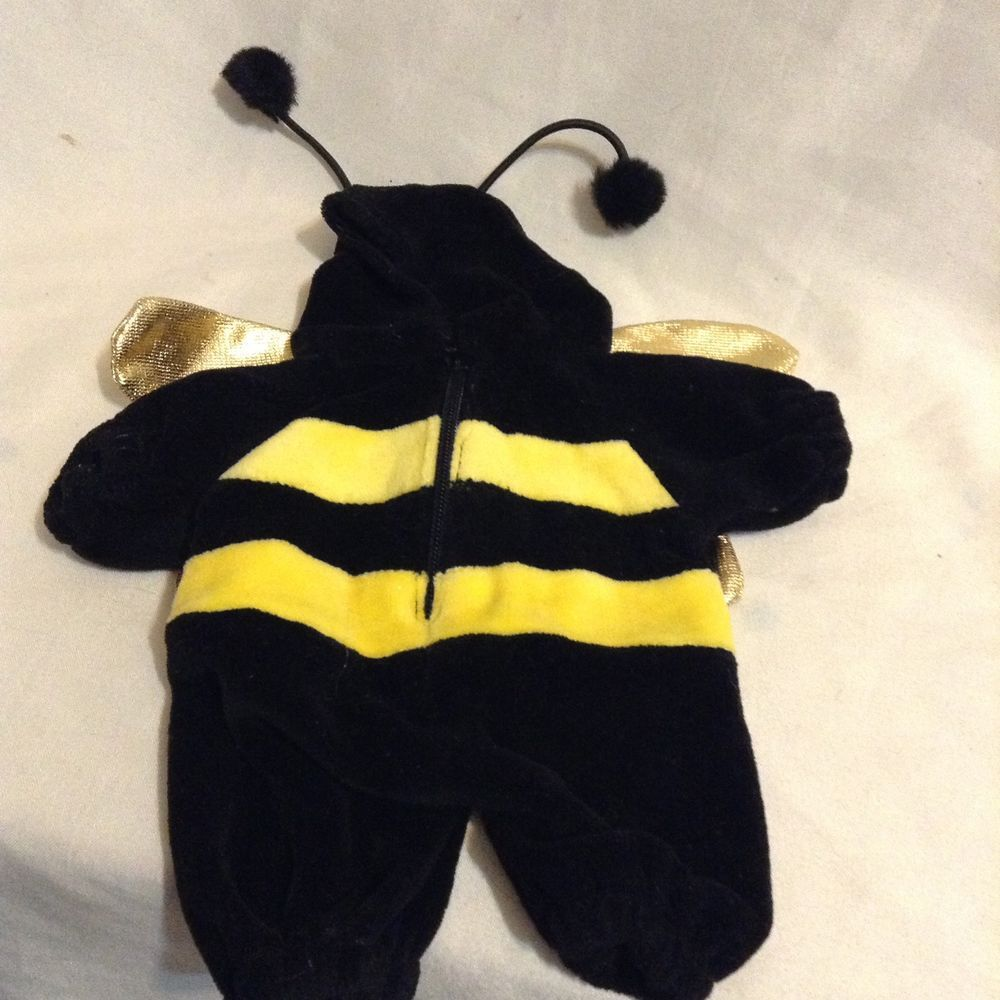 Vintage plush Stuffed Animal beanie baby bumble honey bee Costume Clothes  outfit  UNIPAKDesigns a4aafc5840d