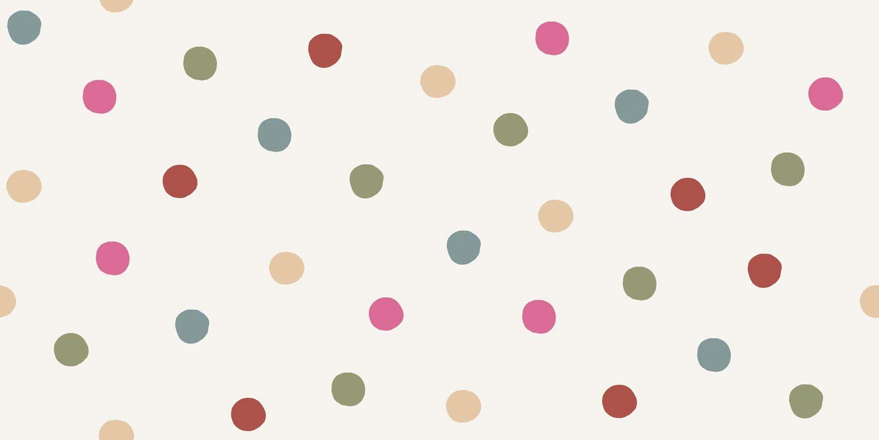 tienda online telas papel papel pintado infantil ole lunares multicolor - Papel Pintado Lunares