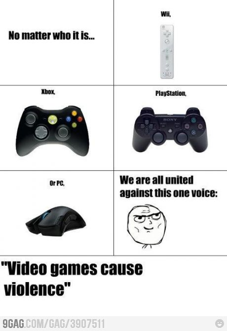No Matter Who It Is We Are All United Against This Video Game Memes Funny Games Funny Gaming Memes