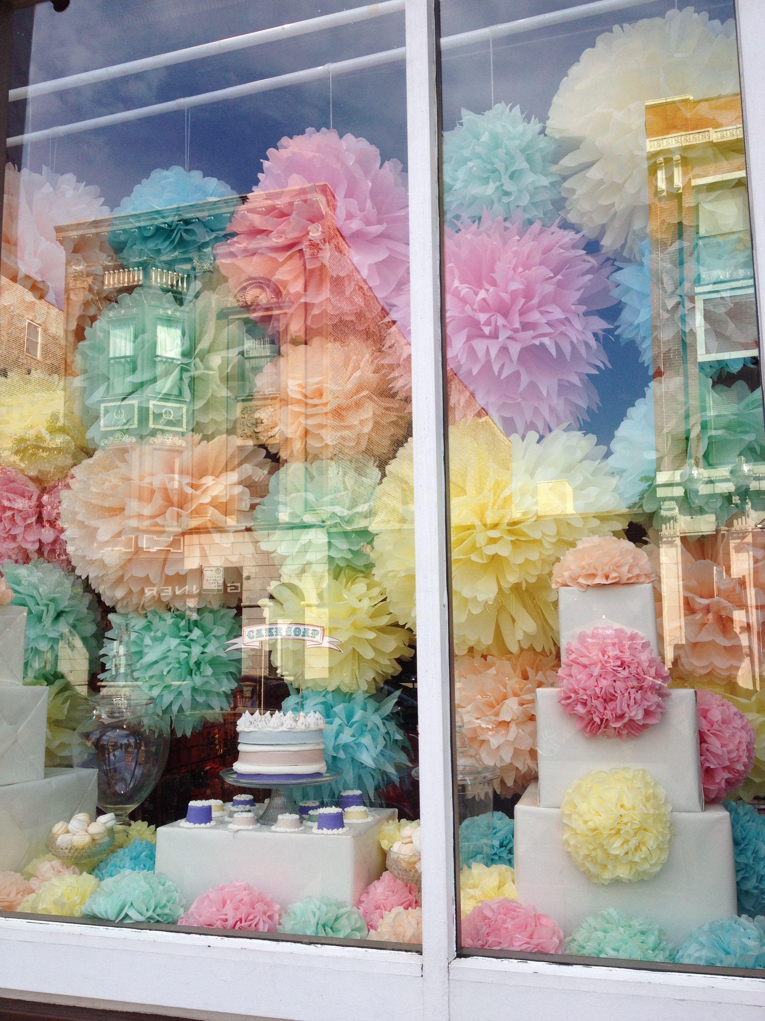 pom-pom window display
