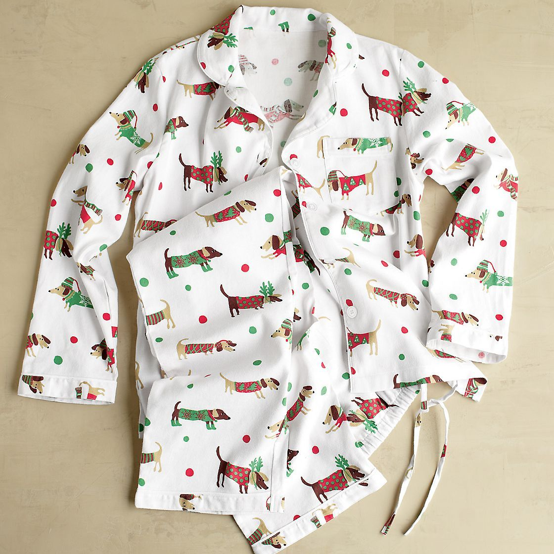 50e4839868d0 WEENIE DOG!!!! Festive Plaid Flannel Matching Family Pajamas ...