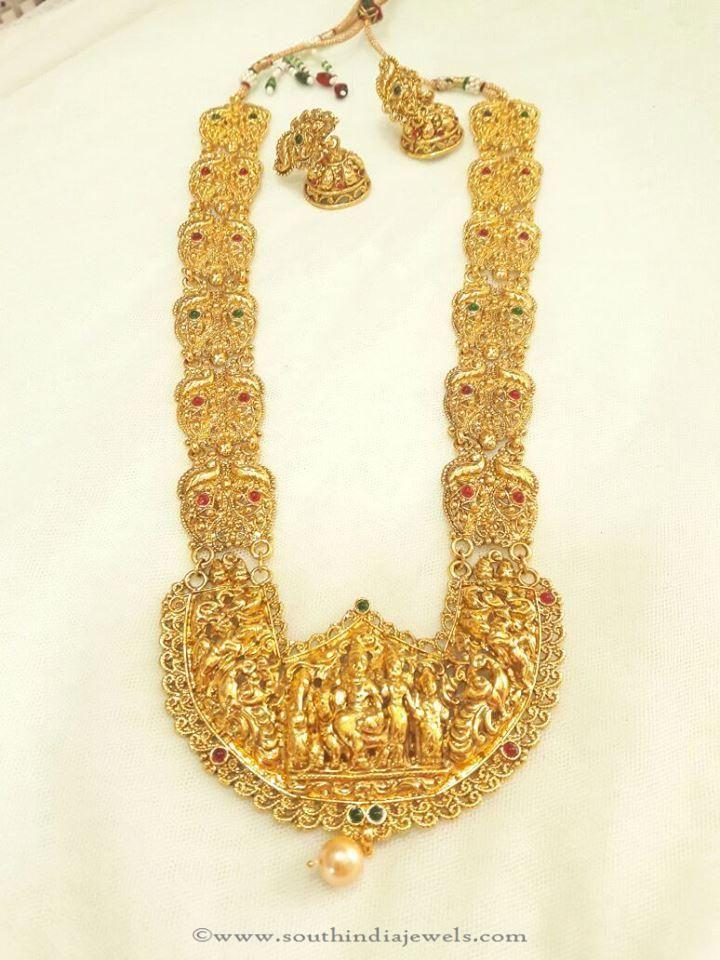 Big Temple Haram Designs, Big Temple Necklace Designs, Big Imitation Temple Haram Designs.