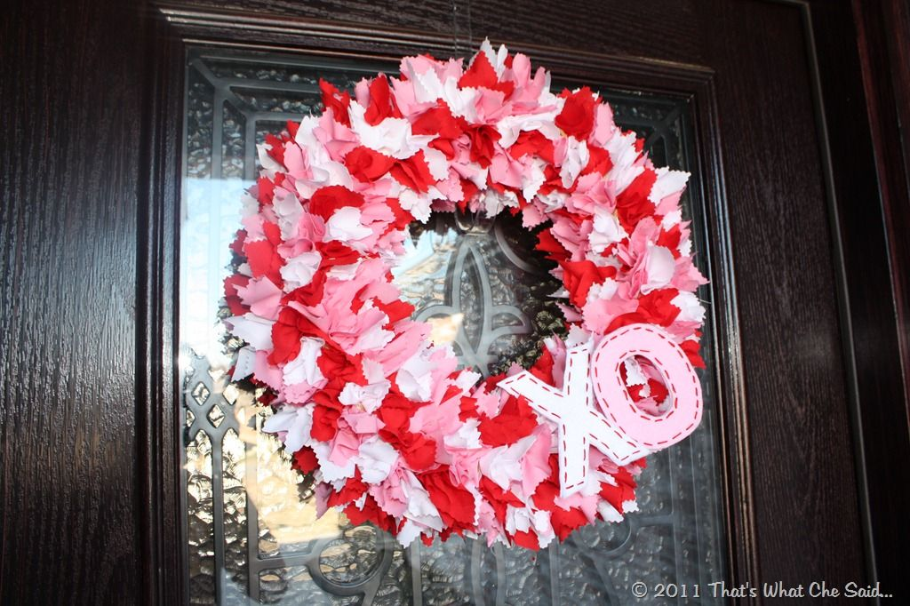 Photo of Valentine's Day Wreath Fabric {From What Che Said} – How To Nest For Less ™