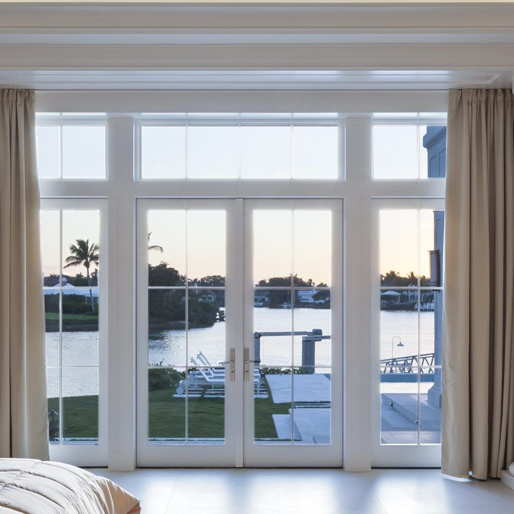 double patio door with transom french