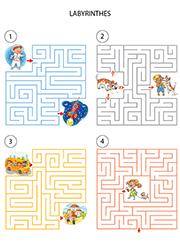 Jeu de labyrinthe avec solution, enfants de 5 ans et plus | Jeux gratuits pour enfants ...