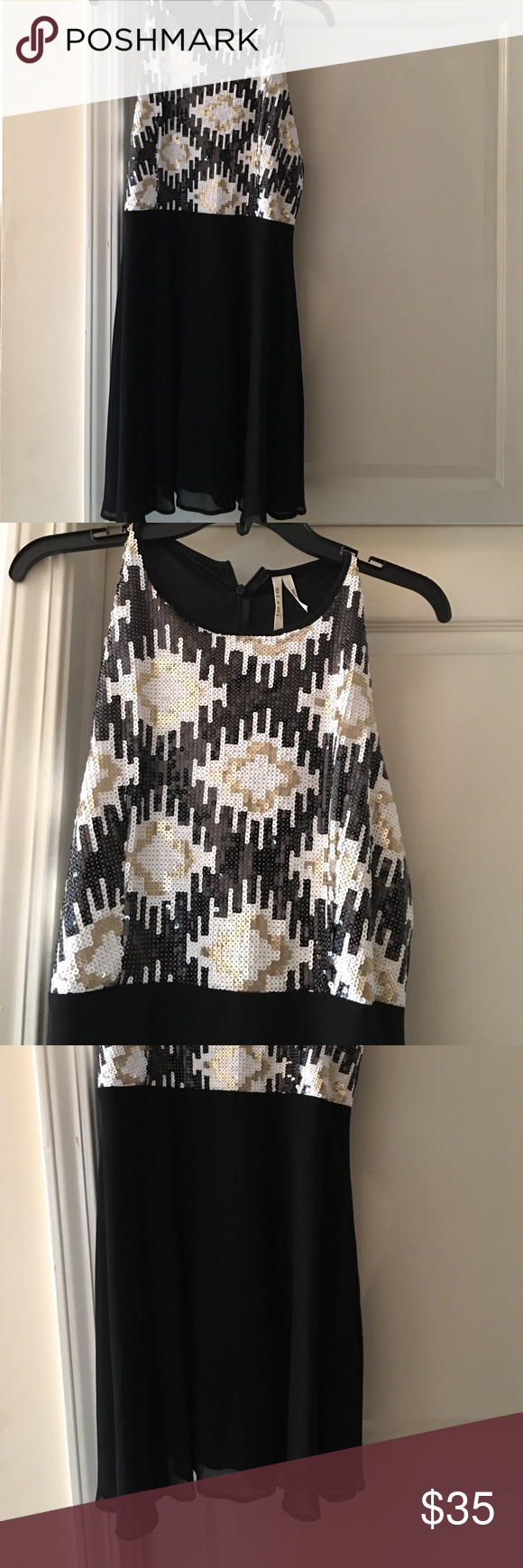 Mi Ami black and sequin top dress If you are already looking for the perfect New Years dress here it is! Mi Ami Dresses Mini