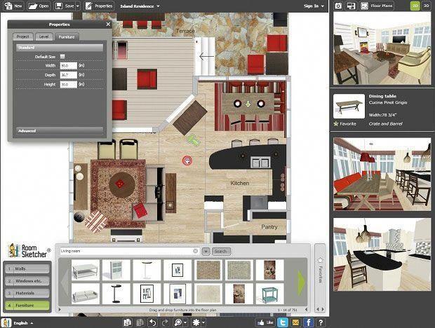 Roomsketcher home design software designer floor plan tool interiordesignsoftware also rh in pinterest